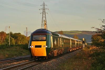43188 & 43187 1L32 06:58 Swansea to London Paddington at Margam 23/9/15.