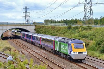 43126 & 43070 1B20 09:30 London Paddington to Carmarthen at Llandeilo Junction 20/9/15.