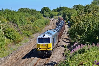 60066 6H26 Llanwern to Margam at Pyle 8/8/15.